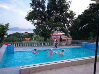 Verre acrylique de plexi d'acrylique de piscine de luxe d'épaisseur de 150mm 150mm pour de grandes piscines