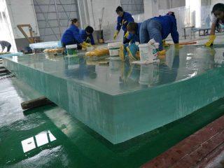 Feuille de verre plexi acrylique 50 mm, épaisseur 40 mm