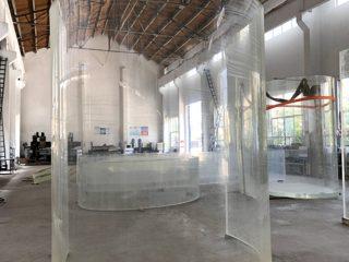 plaque de verre acrylique plexi incurvé lucite pour aquarium océanique