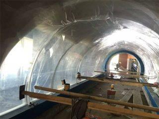 Projet acrylique sur mesure de tunnel en plastique pour grands aquariums