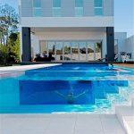 Panneau épais acrylique adapté aux besoins du client de feuille de plexiglass pour le projet de piscine