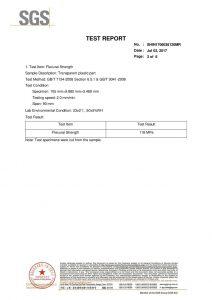 Certificat d'essai SGS FR