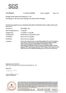 Certificat de test ROHS FR